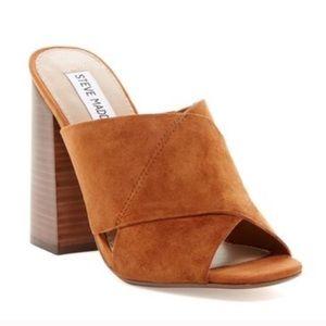 Steve Madden Kristal Suede Slip On Mules Sandals